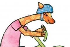 Giraffe Cyclist