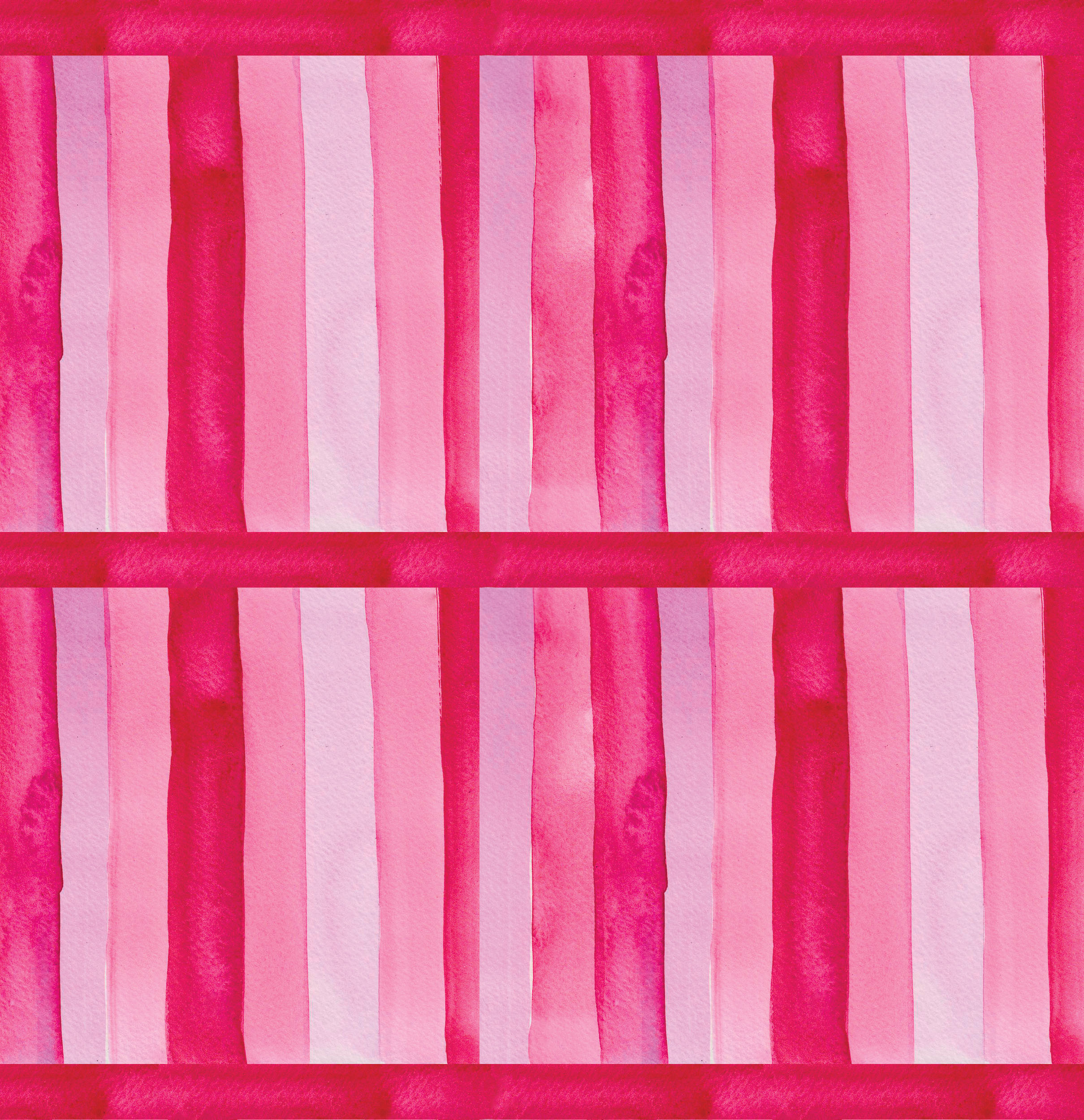 Pink Stripes Pattern Tiled